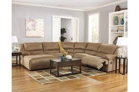 Ashley Furniture Hogan Reclining Sofa by Hogan 5 Piece Sectional Ashley Furniture Homestore