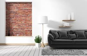 wohnzimmer loft interieur mit sofa und wand muster ziegel in