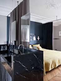 rideau chambre parents suite parentale avec rideaux comme séparation amovible