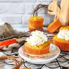 kürbis apfel muffins mit sahne