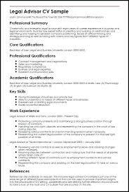 International Resume Template Download Legal Advisor Sample Cv