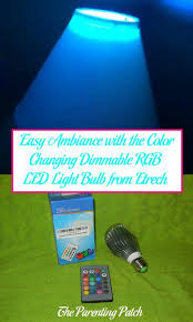 easy ambiance with the color changing dimmable rgb led light bulb