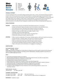 Stylish Nurse Resume Sample Staff Philippines