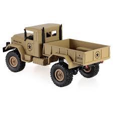 100 Rc Military Trucks Khaki HENG LONG 3853A 116 24G 4WD OffRoad RC Truck Rock