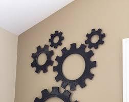 Working Gears Wood Gear Wall Kinetic Art Steampunk