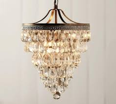 Clarissa Glass Drop Small Round Chandelier   Chandeliers & Lights ... Lighting Lamp Wine Glasses Chandelier Pottery Barn Chandeliers Glass Ebay The Lush Nest Eat Host Dwell Recycled Beaded Blue Shades Maria Theresa Murano Globe Kitchen Best Simple Inspiration Litecraft Your Home Youtube Design Emery