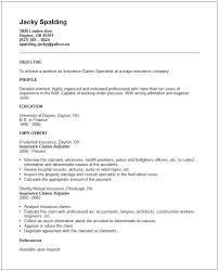 Insurance Claims Resume Example See Person With Some Experience Claim Letter Processor Cover Sample