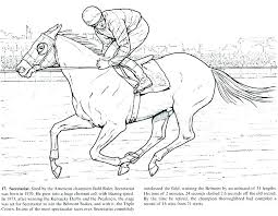 Horse Jumping Coloring Sheets Realistic Pages