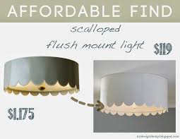 Design Dump: Affordable Find: Scalloped Flush Mount Remodelaholic Update A Dome Ceiling Light With Faceted Crystals Chandelier Globe Kitchen Pottery Barn Flooring Company Logo X Layout With Island Countertop Details Clarissa Round Glass Drop Flushmount Fixture Modniquepotteryrnbathroomlightingsemiflushmount Chandeliers Adele Full Image For Flush Mount Scolhouse Fixtures Ding Room Lowes