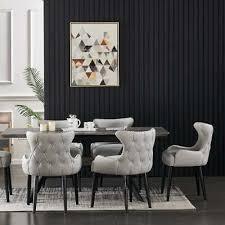luxus esstisch set ausziehbar samt stühle 4 und 6 sitzer