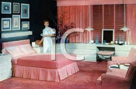 1950 S Modern Bedroom Royalty Free Clipart Image