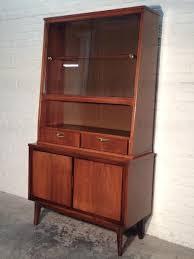 Mid Century Danish Modern China Cabinet Hutch Buffet Bookcase Sideboard
