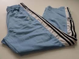 adidas tear away pants mens size xl xlarge basketball warm up