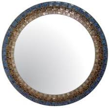 Brown Mosaic Bathroom Mirror by Glass Mosaic Tile Framed Mirror Brown By Natureinspiredcrafts