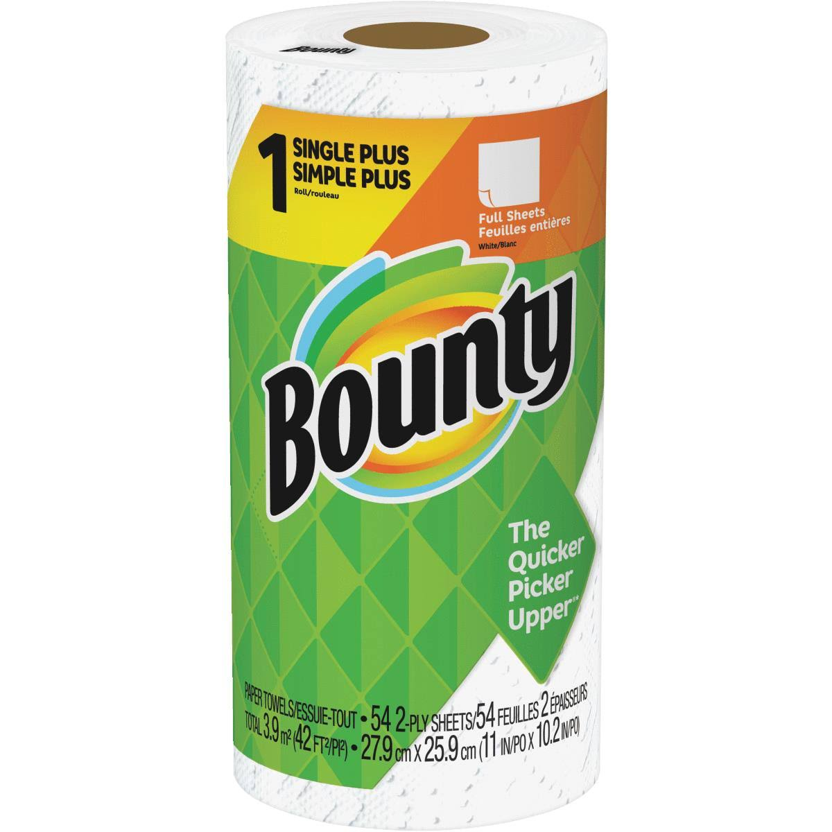 Bounty Paper Towels - White, 1 Roll