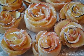 dessert aux pommes sans gluten roses feuilletées aux pommes version classique ou sans gluten