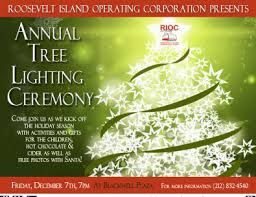 Roosevelt Island Annual Holiday Tree Lighting Ceremony Friday December 7 At Blackwell Plaza