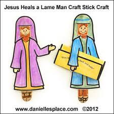 Jesus Heals The Paralytic Craft Stick Bible