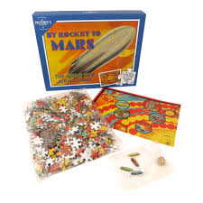ROCKET TO MARS 500 PIECE JIGSAW PUZZLE BOARD GAME RETRO VINTAGE GIFT SPACE