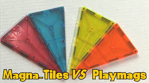 Magna Tiles Amazon Uk by Magna Tiles Vs Playmags Magnetic Building Blocks Youtube