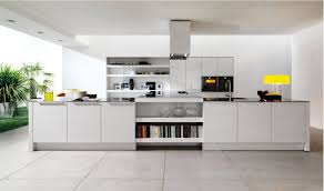 Off White Kitchen Gloss Solid Wood Wall Mount Cabinets Gray Round Leather Comfy Ottoman Wooden