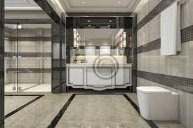 3d rendering modernen loft badezimmer mit luxus fliesen dekor bilder myloview