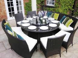 8 Person Patio Table by Nice Round Dining Table For 8 For Your Latest Home Interior Design