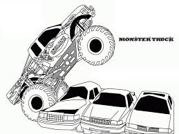 Collection Of Free Printable Monster Truck Coloring Pages | Download ...