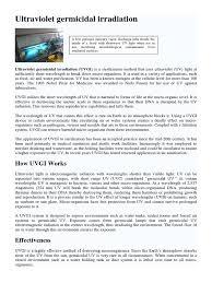 uv germicidal ultraviolet sterilization microbiology
