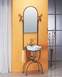 LineaAqua Quinn 28 Inch Wrought Iron Bathroom Vanity With Mirror Faucet