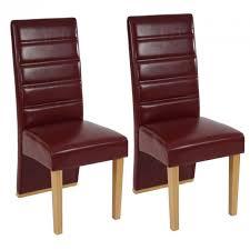 chaise bordeaux ensemble de 2 chaises bordeaux en pu achat vente chaise