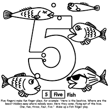 Number 5 Coloring Page