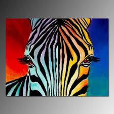 Modern Pop Canvas Theme Home Wall Decor Abstract Zebra Animal Art Painting
