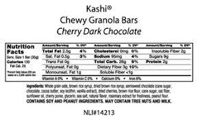 KashiR Chewy Granola Bars Cherry Dark Chocolate