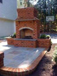 Outdoor brick fireplace plans Outdoor fireplace brick on