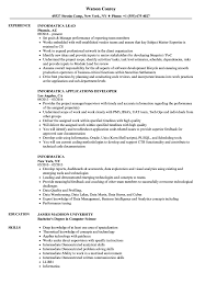 Download Informatica Resume Sample As Image File