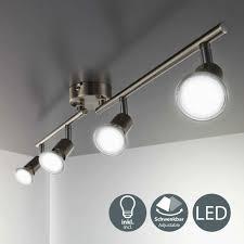 b k licht led deckenspots gu10 warmweiß led deckenleuchte strahler schwenkbar inkl 4 x 3w leuchtmittel gu10 spots wohnzimmer flur