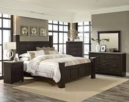 the stonehill bedroom set features a framed panel poster bed