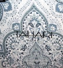 Tahari Home Bedding by New Tahari Moroccan Paisley Soft Blue Gray White 3pc King Duvet