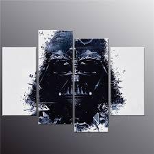Stickman Death Living Room by 4 Piece Printed Star Wars Canvas Art Modern Painting Room