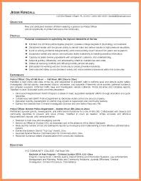 Police Officer Resume Example Sample Examples Free Report Writing Samples O