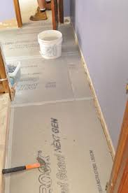 Thinset For Porcelain Tile On Concrete by How To Install Cement Board Cbu For Floor Tile One Project Closer