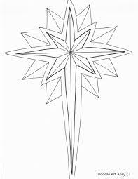 Christmas Coloring Pages For Star Of Bethlehem Page