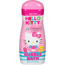 Spongebob Bathroom Decor Walmart by Hello Kitty Strawberry Scented Bubble Bath 24 Fl Oz Walmart Com