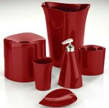 Mercury Glass Bathroom Accessories Uk by 20 Fascinating Red Bathroom Accessories Red Bathroom Accessories