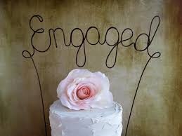 ENGAGED Cake Topper Banner