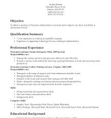 Resume Format Career Objective Admin For Examples Example Of Your