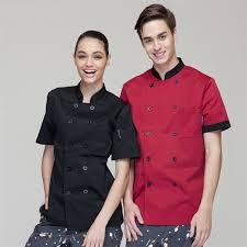 wholesale retail checkedout custom logo short sleeves chef uniform