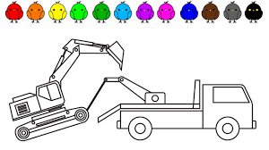 Learn Colors With Tow Truck And Excavator Coloring Pages ... Tow Truck Coloring Page Ultra Pages Car Transporter Semi Luxury With Big Awesome Tow Trucks Home Monster Mater Lightning Mcqueen Unusual The Birthdays Pinterest Inside Free Realistic New Police Color Bros And Driver For Toddlers