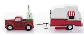 The Holiday Aisle Resin Light Up Vintage Camper & Truck | Wayfair